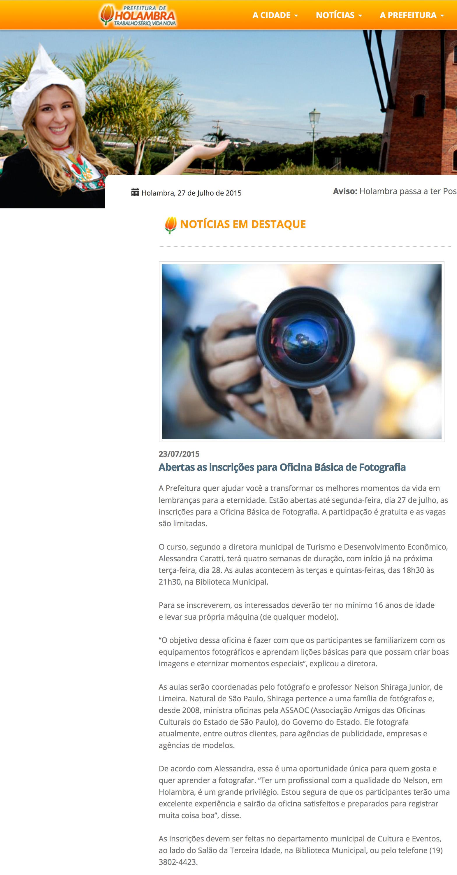 Oficina de fotografia em Holambra / SP